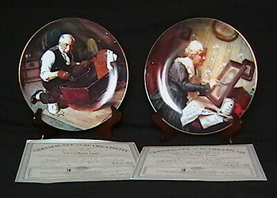 Rockwell's Golden Moments Series Collection Plates