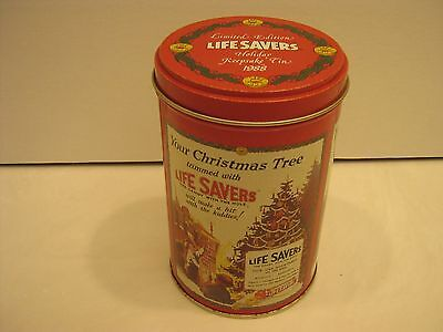 1988 Life Savers Candy Collectible Tin Chirstmas Limited Edition Keepsake Red