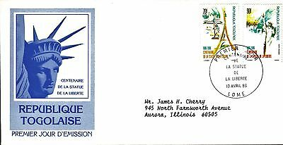 Togo First Day Cover 1986 Centennial Of The Statue Of Liberty