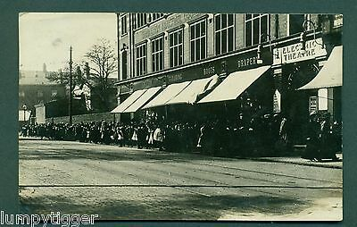 BIRMINGHAM,QUEUE FOR THE ELECTRIC THEATRE OUTSIDE CO-OP SHOP,vintage postcard