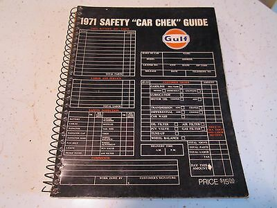 "Vintage Gulf 1971 Safety ""car Chek"" Guide"