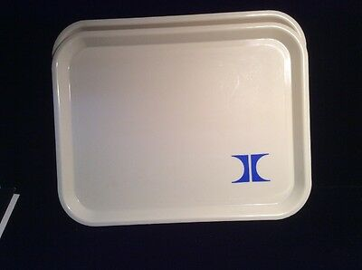 Vintage Lunch Breakfast Room Trays (2) With Hilton Hotel Logo