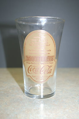 1980s Rare Mother's Pizza Parlour Coca-Cola 20s Babe Ruth theme Glass No.5 of 6