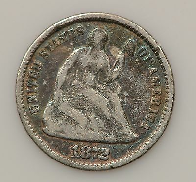 1872-P Seated Liberty Silver Half Dime *G12