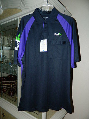 Mens FedEx Ground Short Sleeve Uniform Shirt Polo Large Xlarge