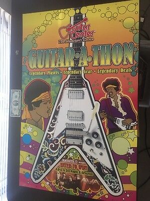 Jimi Hendrix Gibson Psychedelic Flying V Collectible Guitar Poster