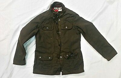 Girls Barbour Wax Jacket Age 6/7 Years