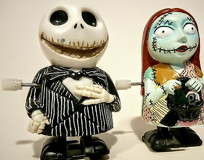 The Nightmare Before Christmas Jack and Sally wind up clockwork toys NECA RARE