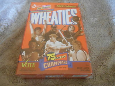 """Vintage Unopened  """"75 Years Of Champions"""" Wheatie Box"""