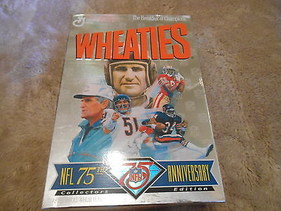 """Vintage Unopened  """"nfl 75Th Anniversary Collectors Edition""""  Wheatie Box"""