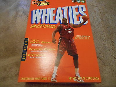 """Vintage Unopened  """"shaquille O'neal""""  Wheatie Box"""