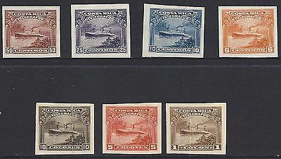 Costa Rica (G420) TELEGRAPH,SHIP, PLATE PROOFS IMPERF on PAPER or CARD 1910