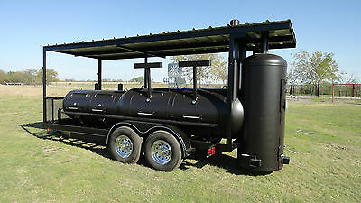 NEW Custom BBQ pit Charcoal grill Smoker style Concession Trailer