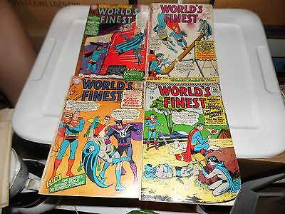 World's Finest Comics lot of 4 books #151 #154 #155 and #157 worn but complete