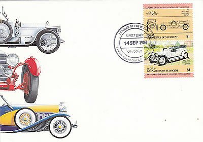 Grenadines of St Vincent 1984 Leaders of the world Automobiles FDC Unadressed