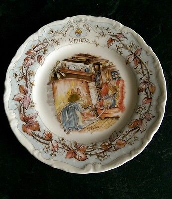 "Bramley Hedge ""Winter"" Plate  Royal Doulton Very Good Condition"