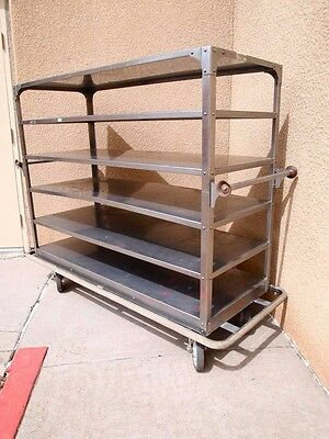 Stainless Steel Banquet Hospital Cart with (6) Shelves