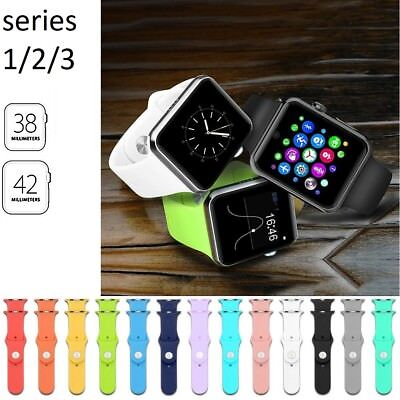 Sports Silicone Bracelet Strap Band For Apple Watch iWatch Series 3/2/1 38/42MM
