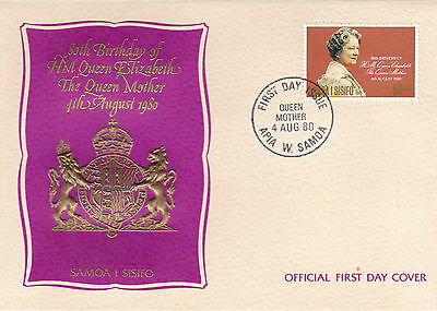 Samoa 1980 Queen Mother 80th Birthday FDC Unadressed