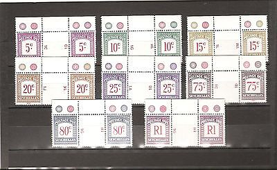 SEYCHELLES 1980  Postage Dues  SG D11/18 pairs unmounted mint