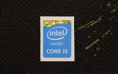 Intel Core i5 Inside Sticker 15.5 x 21mm 2013 Version Haswell Genuine Case Badge