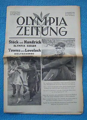 Orig.PRG / Newsletter  Olympic Games BERLIN 1936 - 07.08. all Day Event`s ! RARE