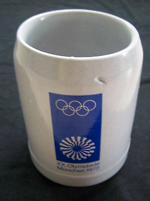 Orig.Tankard/Stoneware jug    Olympic Games MÜNCHEN 1972  -  OFFICIAL LOGO  !!