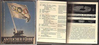 Orig.Complete PRG / Leader   XI.Olympic Games BERLIN 1936  !!  EXTREM RARE