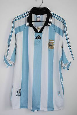 Vintage Adidas Argentina Football Home Shirt Jersey Camiesta World Cup 1998 L