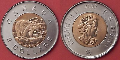 Brilliant Uncirculated 2007 Canada 2 Dollars From Mint's Roll