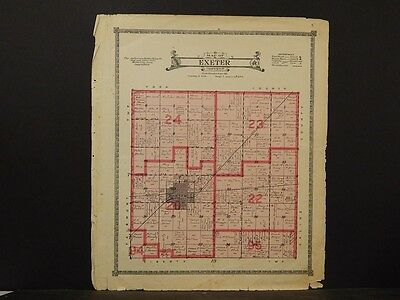 Nebraska, Fillmore County Map, Exeter Township 1918  K6#92