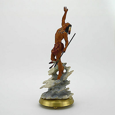 """American Indian Heritage 'Mystic Warrior' Painted Porcelain Figurine-14.75"""" High"""