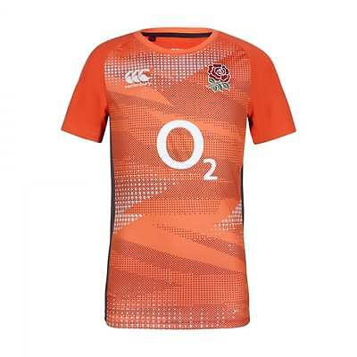 England Rugby Canturbury Poly Tee | Orange/Grey | Size: M | Condition: New
