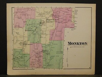 Vermont, Addison County Map, 1871, Monkton Township, Y4#87