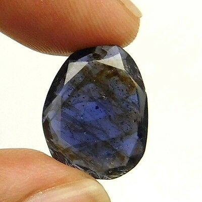 13.10 cts Natural Inclusion Rare Iolite Both Side Faceted Fancy Loose Gemstone