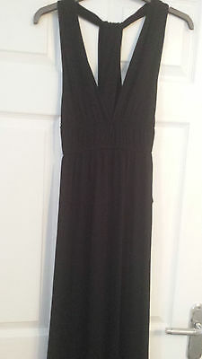 New Look Black Maxi Dress Size 12 (  With Halter Neck Styling )   New With Tags