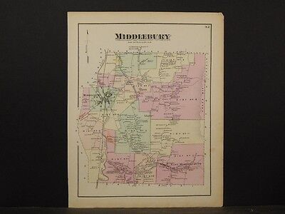 Vermont, Addison County Map, 1871, Middlebury Township, Y4#93