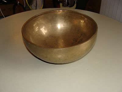 "Antique Tibetan Singing Bowl C# or G# at 432hz  Large 9"" Diameter"