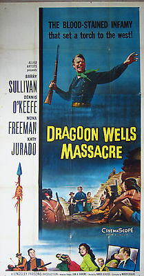 Dragon Wells Massacre - 1957 Western - 3 sheet 41 x 81 inch poster