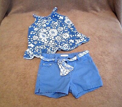 Baby Girls Toddler Old Navy Daisy Floral Tank/Shorts 2 Piece Outfit Size 3T