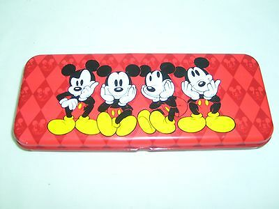Disney Micky Mouse Pencil Box Case 2 Layers In Red Color