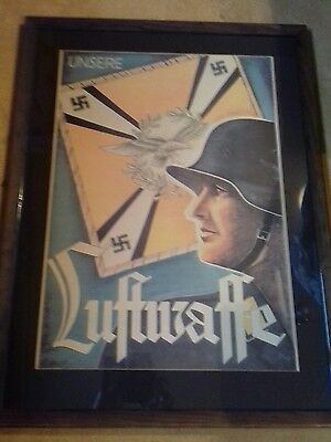 German ww2 framed picture