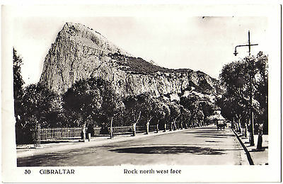 Gibraltar ROCK OF NORTH WEST FACE OLD RP PHOTO POSTCARD - No. 30