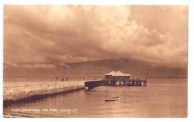 Beaumaris THE PIER Anglesey WELSH WALES OLD RP PHOTO POSTCARD 1933