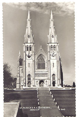 St Patrick's Cathedral Armagh Northern Ireland CHURCH OLD RP PHOTO POSTCARD