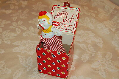 RARE Vintage Jolly Jack 1847 Rogers Bros. Clown Jack in the Box Pop Up