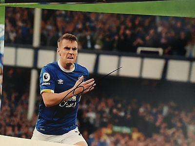Seamus Coleman Everton Fc Toffees Hand Signed 12X8 Photo