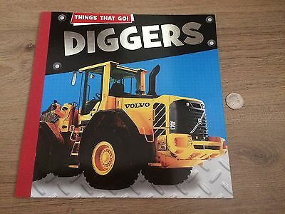 paperback book things that go! diggers