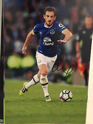 Leighton Baines Everton Fc Toffees Hand Signed 12X8 Photo