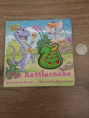 hardback board book jungle animals the rattlesnake with squeaker